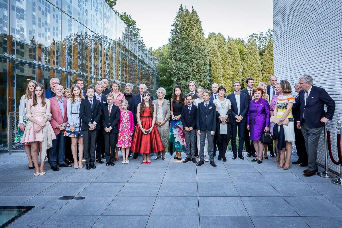 The Belgian Royal Family during the 70th Anniversary event of Queen Paola