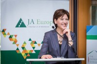 Caroline Jenner, CEO of JA Europe during the TES Awards event in Brussels