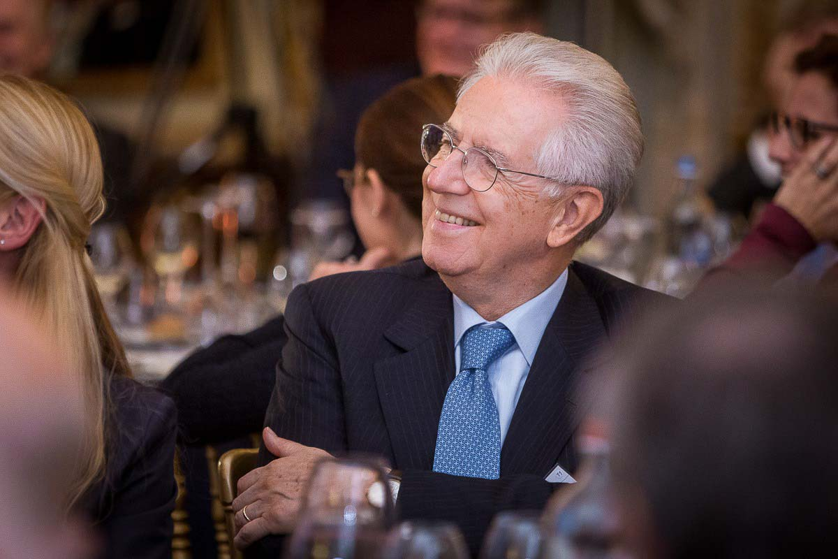 Mario Monti, former Prime Minister of Italy, smiles during the McKinsey Awards event in Brussels