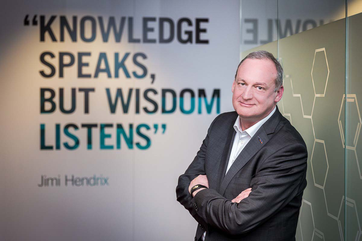 Editorial portrait of Benny Mermans, CEO of Chevron for CEO Magazine in Brussels
