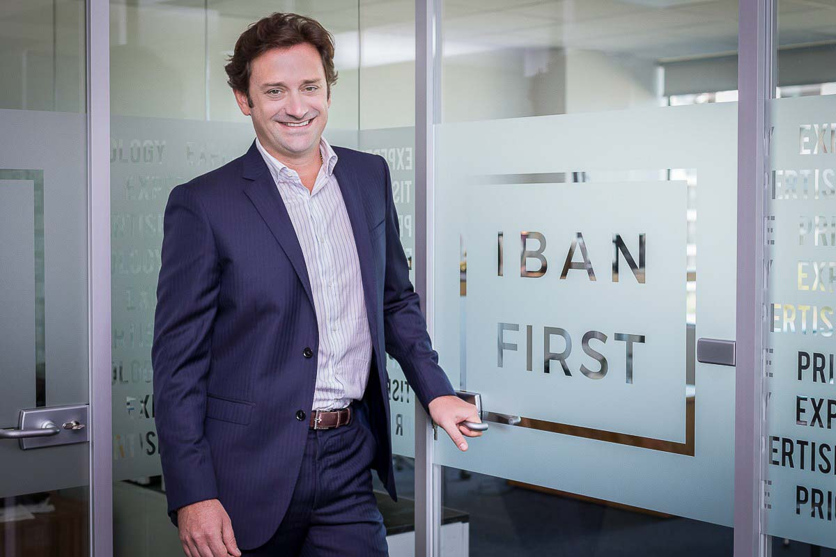Corporate portrait of Pierre-Antoine Dusoulier, CEO of Iban First in Brussels