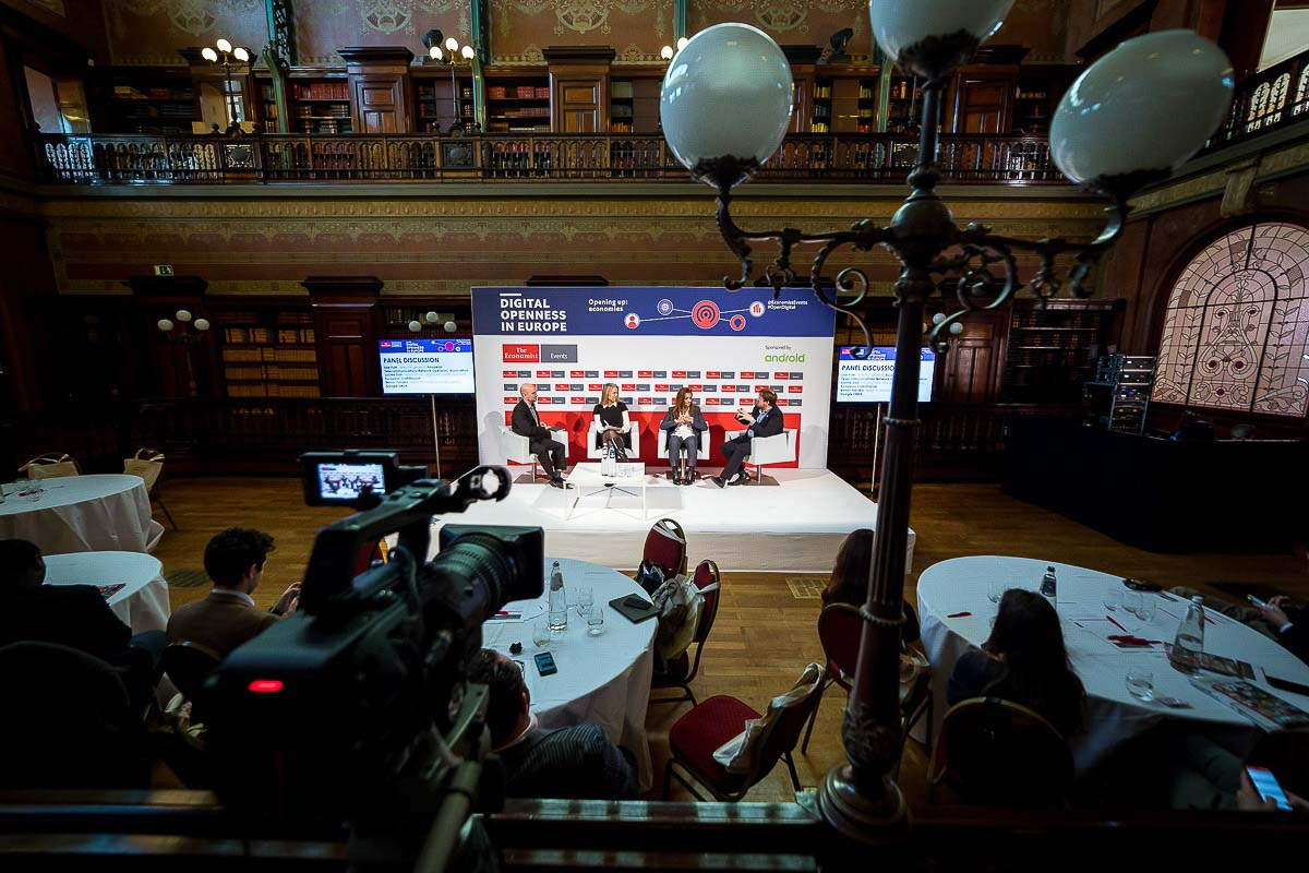 Overview of the room during the The Economist Digital Openness in Europe conference