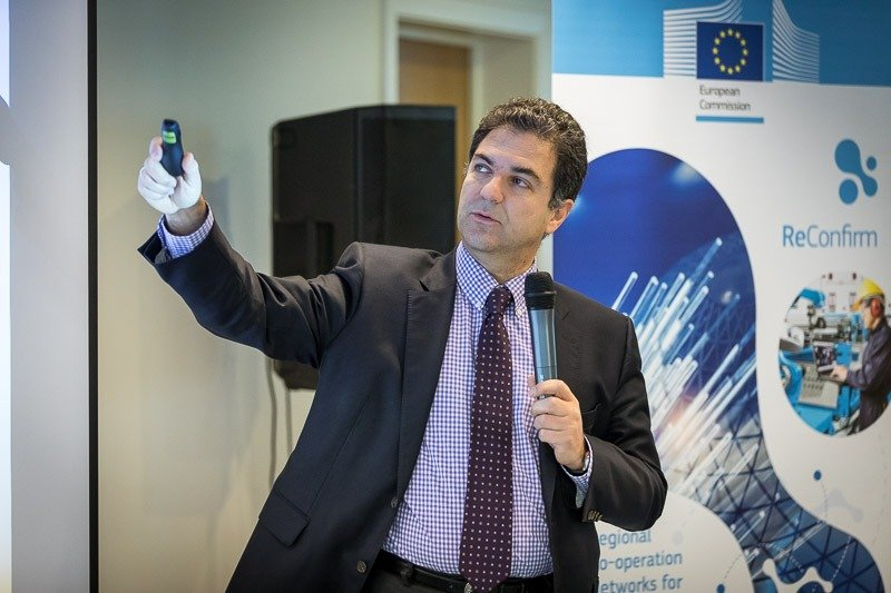 Photography assignment for EURADA: Workshop on Investment Platforms. Photo of one of the speakers while talking. Taken on Wednesday, February 21, 2018, in Orega, Brussels by Dani Oshi.