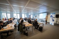 General view of the audience during a workshop event for EURADA in Brussels