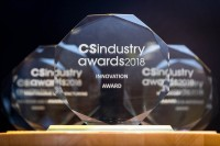 A closeup picture of the CS Industry Awards 2018 prizes during the CS International conference