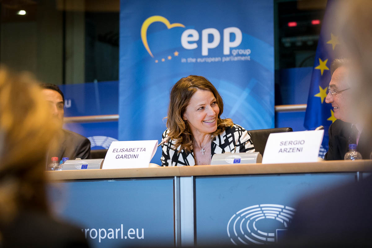 Elisabetta Gardini during the EPP Group conference in Brussels