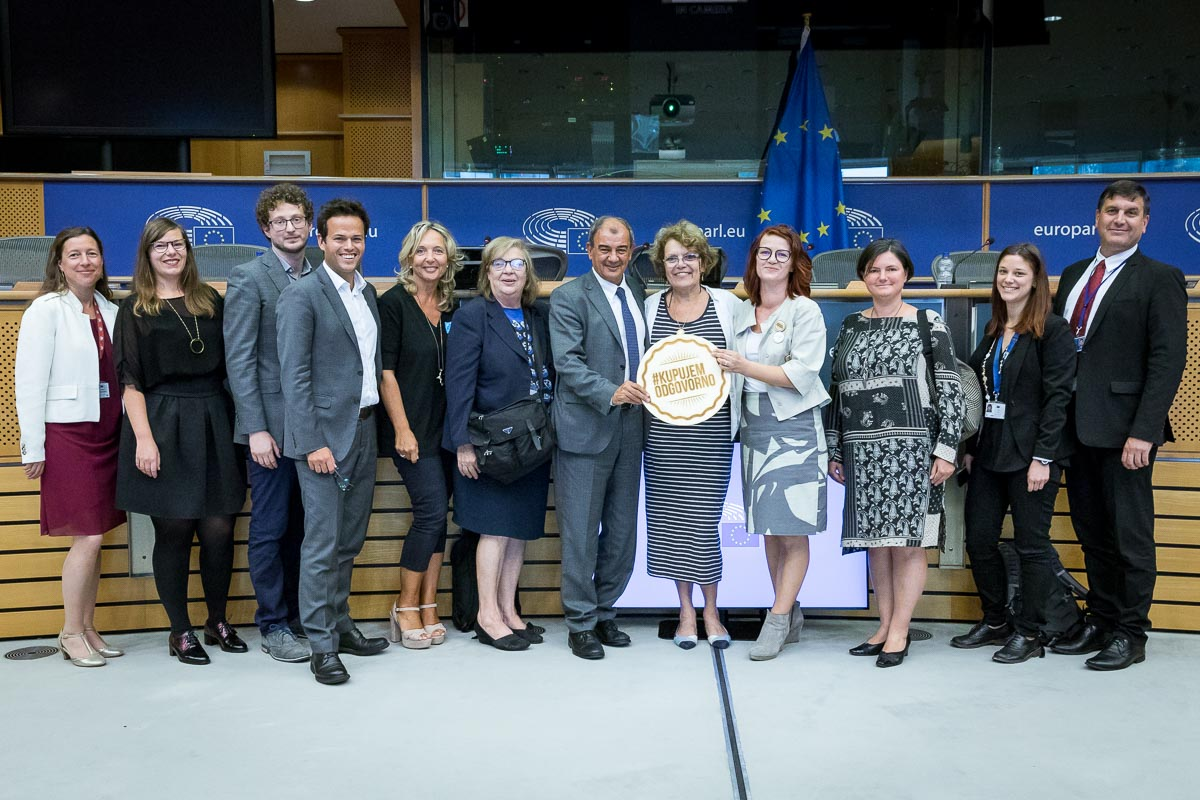 Group picture after a conference in the European Parliament in Brussels