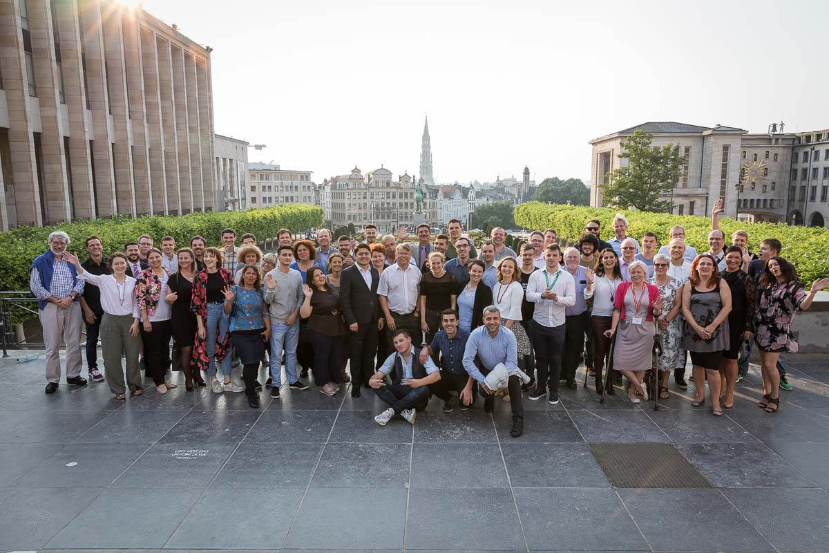 Group picture of all the attendants for the EHC 2018 at Mont des Arts, Brussels