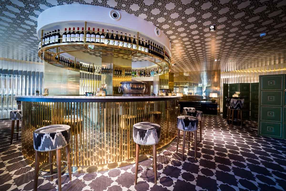 Interior of Hispania restaurant in Sablon, Brussels