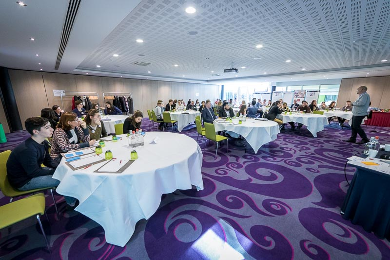 Overall view of the workshop room at Thon Hotel Brussels during the Why Europe Matters 2018