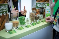 Detail of sugar produce imported during an event for APEX Brasil in Brussels