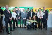 APEX Brasil group picture during an event for APEX Brasil in Brussels