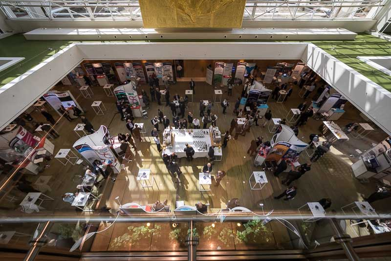 Above view of the networking area during the CS International Conference 2018