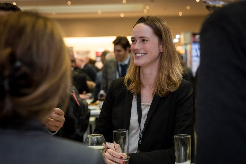 People drinking and networking during the CS International Conference 2018