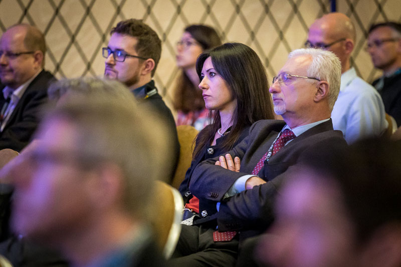 A participant listens attentively a speaker during the CS International Conference 2018