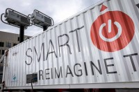 Smart Wires truck seen from up close