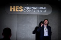 A speaker at the HES room during the CS International Conference 2018