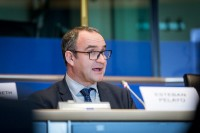 Esteban Pelayo from EURADA speaking during the EPP conference at the EU Parliament