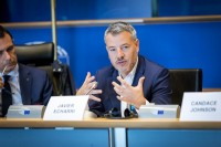 Javier Echarri, CEO of EBN speaking during the EPP conference at the EU Parliament