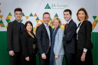 A group picture of JA Europe students and mentors during Leaders for a Day 2018