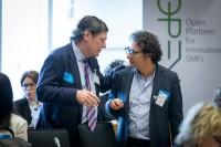 Attendees network during the EPP conference at the EU Parliament