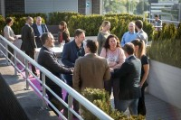 People at the terrace networking during the Turkish Cargo Award Ceremony
