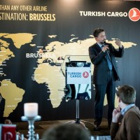 Turhan Özen, Chief Cargo Officer at Turkish Airlines opening speech during the Turkish Cargo Award Ceremony