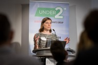 Anne-Sophie Dörnbrack opens the ceremony during the Under2 Coalition conference in Brussels
