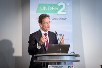 Tim Ash Vie closing giving a speech during the Under2 Coalition conference in Brussels