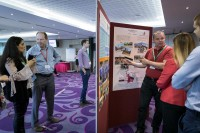 People check out the info boards at the EHC Leadership Conference Day 1 in Brussels