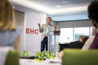 A speaker at the EHC Leadership Conference Day 1 in Brussels
