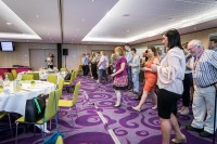 Attendees participate in a dynamic activity at the EHC Leadership Conference Day 2 in Brussels