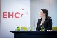 A member of the EHC staff at the EHC Leadership Conference Day 3 in Brussels