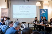 The sessions start in the room at the In4Wood Final Conference by EURADA, Brussels
