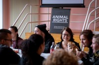 Banner of Animal Rights during the Animal Rights volunteers party