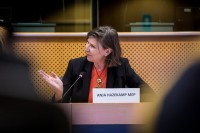 Anja Hazekamp, MEP, during the Breaking Point - Solving the European Wildlife Rescue Crisis Conference