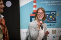 Woman speaker smiling at the EURADA AGORADA 2018, Charleroi