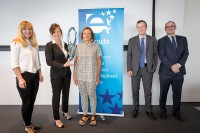Winners posing with prize during the award ceremony during the EURADA General Assembly 2018