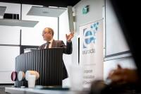 Esteban Pelayo, director of EURADA, opening the event during the EURADA General Assembly 2018