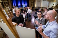 Visitors checking the projects at the EUSIC 2019 Awards, Complex Albert Hall, Brussels