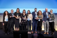 The winners of the EUSIC 2019 Awards with Timo Pesonen during the EUSIC 2019 Awards, Brussels
