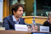 Emilio Puccio speaking during the MCE Conference at the EU Parliament