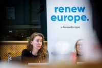 Laetitia Van der Vennet, Advocacy Officer, during the MCE Conference at the EU Parliament