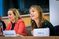 Rebecca O Donnell, Child Circle, speaking during the MCE Conference at the EU Parliament