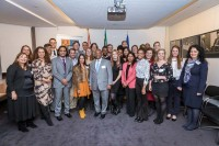 A group picture during the Stellenbosch University cocktail at the South African Embassy, Brussels