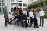 Corporate business group portrait of 12 people in Brussels