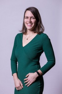Corporate Portrait of a woman wearing a green dress for ECOS in Brussels