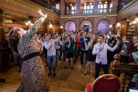 Everybody dancing during the Skills for the Future event in Brussels