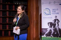 Diana Filip, Deputy CEO at JA Europe, during the Skills for the Future event in Brussels
