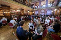 Overview of the Solvay Library room during the Skills for the Future event in Brussels